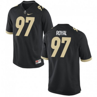 Brooks Royal Men's Game Black Purdue Boilermakers Alumni Football Jersey